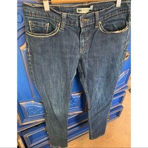 Levis 524 Too Low Denim Jeans Est. Size 9-11